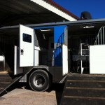 Holes cut in Roof for PerformAir Vent on Prestige Racehorse Transport Truck
