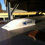 PerformAir Vent Installed into Roof of Prestige Racehorse Transport Truck