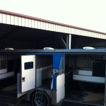 PerformAir Vents Installed Above Horses Head in Each Two Horse Cabin of Animal Transport Vehicle - Side View